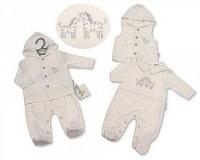 Baby Hooded 2 Pieces Gilet Set - Zebra