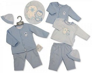 Baby Boys Quilted 3 Pieces Set with Hat - Polar Bear