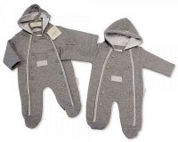 Quiltet and Hooded Baby All in One - Winter Friends