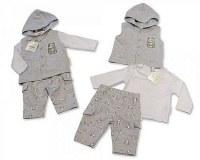 Baby Hooded 3 Pieces Set - Panda