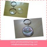 Blank transparent round acrylic keyring acrylic keychain wholesale