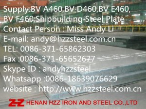 Supply:BV A460,BV D460,BV E460,BV F460,Shipbuilding Steel Plate