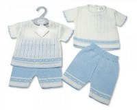 Baby Boys Knitted 2 Pieces Short Set