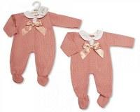 Knitted Baby Girls Long Romper