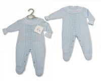 Knitted Baby Boys Long Romper