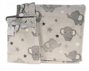 Baby Printed Wrap - Elephant