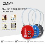 XMM Cable lock combination wire security padlock xmm-8039