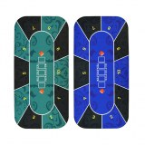 Casino Gambling Table Mat Customized Square Shape Texas Poker Game Table Mat