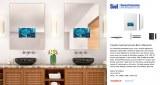 24inch x 32inch Vanishing Mirror TV Waterproof TV for Bathroom