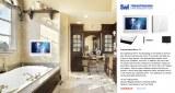 22inch IP66 Glass Mirror Waterproof Bathroom LED TV