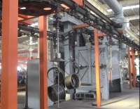 Chain Type Industrial Forging Metal Parts Rust Peeling Shot Blaster