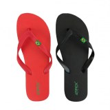 Pack 24 x Brazilian flip flops black, red assorted
