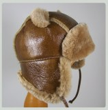 Chapka Hat Baby Lamb leather and fur Natural Lamb
