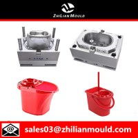 Plastic injection mop bucket mould with high quality