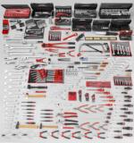 Palette Facom Pinces à becs demi-ronds coudés de précision