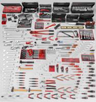 Palette Facom Clés mixtes longues 33, 35, 36, 38 mm