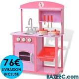 Cuisine jouet 60 x 27 x 83 cm Bois Rose LIVRAISON GRATUITE