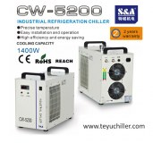 S&A chiller CW5200 with double output for dual laser cooling