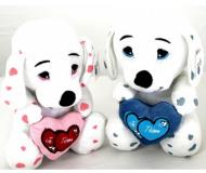 Plush Dalmatien I Love You