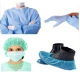 Disposable (head cap, green mask, lab coat,Face Mask...etc