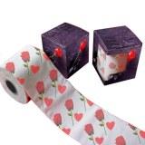 Flower toilet tissue