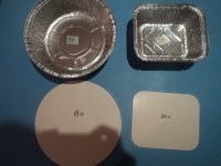 Aluminium Foil Containers Laminated Paper Board Lids Covers