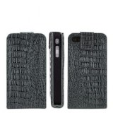 TOP VENTE! CROCODILE Etui en cuir simili pour iPhone 4 et 4S