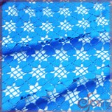 Blue floral water soluble embroidery chemical lace fabric