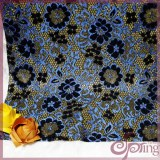 Blue flower tricot lace fabric,sparkle lace fabric for dress
