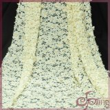 Tricot applique designs laser embroidery lace fabric