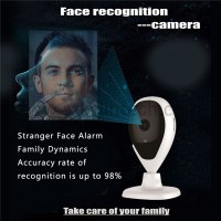 Facial recognition camera face detection smart home security alarm