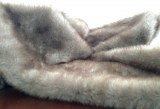 Warm Faux Fur throw blanket
