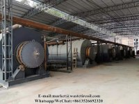 High oil yield waste tyre pyrolysis recycling pyrolysis plant