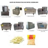 Créez une Unité de Production de Frites Surgelées Semi-Automatique