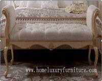 Bed stool wood stool bedroom furniture bedroom stool bed stool classical style FU-102