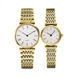 Luxury Round Glass Quartz Couple Watches Lovers 2016 On Sale