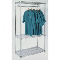 Silver Garment Wire Shelving