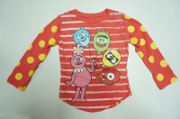 Little girls printed long t shirt with good looking from China