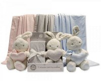 Baby Rabbit Toy with Blanket in Box