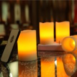 LEDrechargeablewaxcandlesetof4pcswithremotecontrol