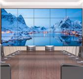 4K HD ultra-narrow bezel LCD TV screen advertising wall