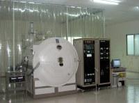 Horizontal E-beam optical coater