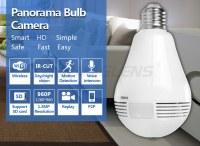 2 way audio IR LED audio TF card 10m hidden light wifi bulb camera
