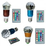 Remote control RGB E27 3W led crystal bulb light