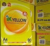 IK YELLOW A4 COPY PAPER A4 102-104%