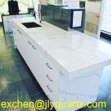 Kimria quartz affordable price white calacatta quartz vanity countertops