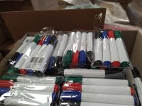Lot of branded pens and various office supplies