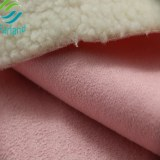 New design fabric for winter garments shumianrong and sherpa and suede fabric together