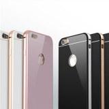 Iphone 6 S Cadre en aluminium Plastique en verre tempéré Couverture arrière Téléphone