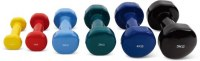 Vinyl dumbbells of fitness accessories